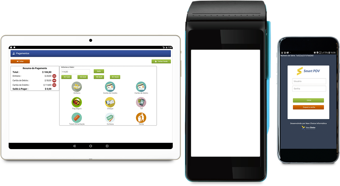 Sistema smart PDV celular/tablet/pos