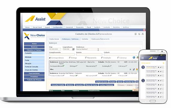 Notebook e smartphone com Assist