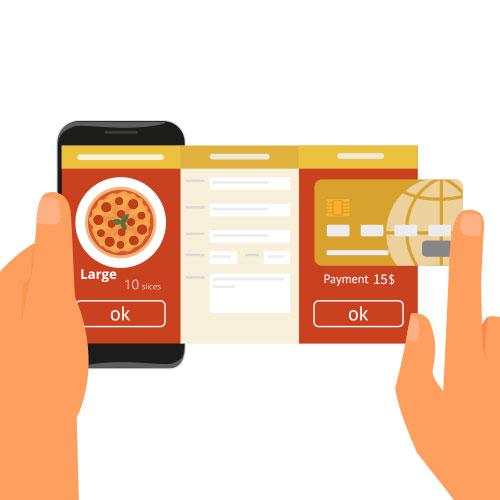 Pedidos facilitados pelo celular ou computador